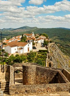 Village of Marvão, Alentejo region, Portalegre district, Portugal is situated atop a rocky mount at 860m of altitude.  The village was established by the Arab Ibn Maruan (IX century).