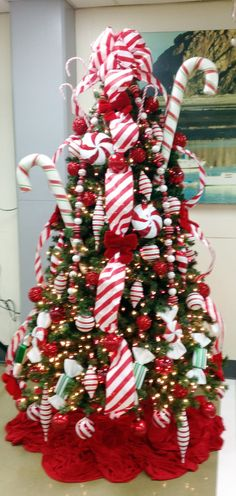 Candy Cane Christmas tree.