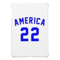 #America 22 Birthday Designs Cover For The iPad Mini - #giftidea #gift #present #idea #number #22 #twenty-two #twentytwo #twentysecond #bday #birthday #22ndbirthday #party #anniversary #22nd