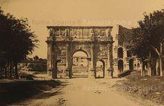 Arco di Costantino e Colosseo da via San Gregorio. Anno: fine '800