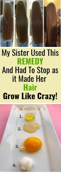 My Sister Used This Remedy And Had To Stop as it Made Her Hair Grow Like Crazy! #hairgrowth #haircare #hair #hairstyles