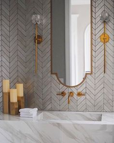 Most recent Photo affordable Bathroom Remodel Tips Pop quiz: What's the typical amount of space required for a toilet? Just how much does a basic bat Tuile Chevron, Chevron Tile, Chevron Bathroom, Beautiful Bathrooms, Modern Bathroom, Small Bathroom, Bathroom Ideas, Bathroom Designs, Bathroom Renos