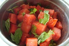 Watermelon Basil Salad. by canarsiebk, via Flickr