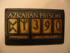 This is my sirius Black prisoner ID from 'Harry Potter and the Prisoner Of Azkaban'. Its full size and an exact replica of the original.....made by me.