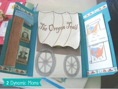 Westward Ho Free Lapbook and unit study. Learn about the Oregon Trail while doing some hands on homeschooling ideas.