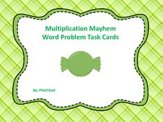 Fun Math, Math Games, Powers Of 10, Multiplication Practice, Math Task Cards, Sixth Grade, Word Problems, Math Lessons