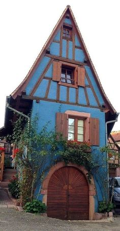 Little blue storybook house