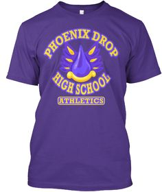 Show your school spirit with this Phoenix Drop High Gym Shirt! Sporting the school colors of Purple and Gold with our athletics department symbol, this T-Shirt is designed to make students look fabulous while being yelled at to run faster.EU CampaignHERE