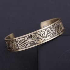 Viking Talisman Raven irischen Knotwork Vögel magnetische Gesundheit Manschette Armband Männer Frauen Schmuck | Wish