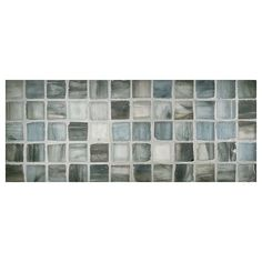 "Complete Tile Collection Zumi Glass Mosaic - Deep Sea - Silk, 1"" Square Recycled…"