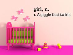 Girl Definition a giggle that twirls  Vinyl by TheVinylCompany, $19.99