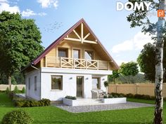 Oliwka 2 projekt domu - Jesteśmy AUTOREM - DOMY w Stylu House Construction Plan, Ethnic Home Decor, Favorite Paint Colors, Bamboo Design, Dream House Plans, Cottage Homes, House Rooms, Home Fashion, Tiny House