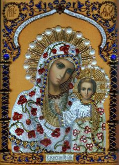 Our Lady of Kazan Blessed Mother Mary, Divine Mother, Blessed Virgin Mary, Religious Images, Religious Icons, Religious Art, La Madone, Russian Icons, Russian Style