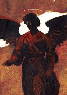 "azertip: "" from bleached bones John Lee "" Arte Horror, Horror Art, Arte Obscura, Bild Tattoos, Red Aesthetic, Angel Aesthetic, Aesthetic Drawing, Angels And Demons, Dark Art"