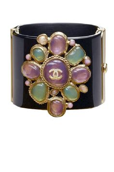 Jeweled    Chanel Paris Byznace bracelet, $1595, for more information, 1.800.550.0005