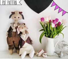 Pdf sewing pattern Cow Stuffed Animals Doll plush toy