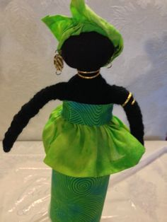 Handmade African Doll by ILOVETORECYCLE on Etsy,