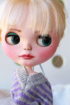 Reserve Custom Blythe Doll Luna by GerakinaDolls on Etsy