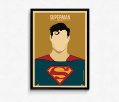 Set of 2 #Superman #Movie #Minimalist #Retro #Poster  by #Lotusdesinz #art #character #illustration