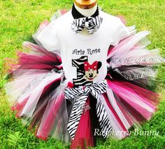 Hey, I found this really awesome Etsy listing at http://www.etsy.com/listing/97429786/zebra-minnie-mouse-birthday-tutu-outfit