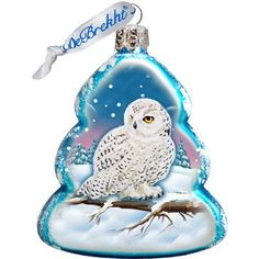 G. Debrekht Owl Glass Ornament