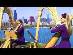 ▶ It is You I Have Loved - Shrek (Harp Twins) Camille and Kennerly, Harp Duet - YouTube
