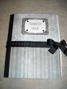 Nik's Naks: DIY: Address Book