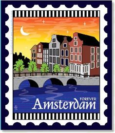 Zebra Patterns Mini City Stamp Panel Amsterdam