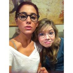 Celebrities & Public Figures that I love / Ariana Grande + Jennette... via Polyvore