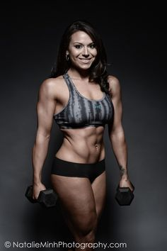 The New Face of Powerlifting. Introducing the gorgeous Nicki Crapotta.     MUAH: Eileen Sandoval.   Photography: Natalie Minh. www.musclesgainer.com