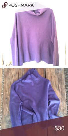Eileen Fisher Sweater Size M. 50% yak, 50% wool. Cowl-neck and cozy-fit in a dark wisteria color. Please let me know what questions you have! Eileen Fisher Sweaters Cowl & Turtlenecks