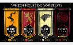 Are you for Lannister, Baratheon, Stark or Targaryen on Game of Thrones™ online pokie