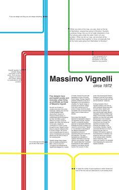Massimo Vignelli Poster   jourdan draws grid system