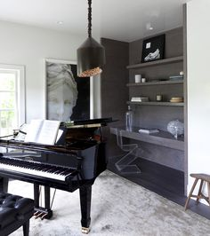 Keep a music room's decor simple - I think that would allow me to focus more when I practice.