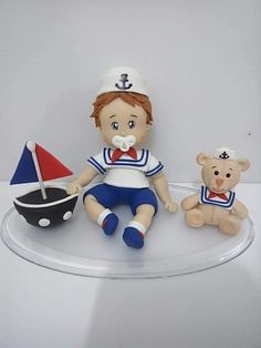 Biscuits, Diy And Crafts, Clay, Baby Shower, Character, Sailor Party, Nautical Party, Embellishments, Cold Porcelain