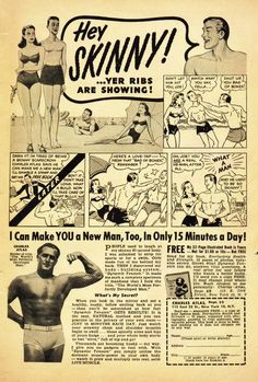Early 1900's BodyBuilding History -Charles Atlas Advert