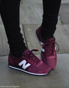 The Parka Coat And Burgundy New Balance