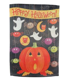 Take a look at this Happy Halloween Garden Flag by Everything Doormats on #zulily today!