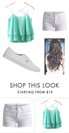 """""""Casual summer"""" by meggykl-percy-jackson ❤ liked on Polyvore featuring moda, Pieces e Vans"""