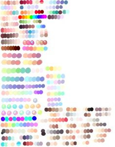 AHH I didnt realize i actually didn't have that many palettes I redid them on a new sheet c: its much more organized!! I actually don;t have any of my fursonas/characters on this sheet EXCEPT...