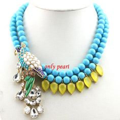 Beaded Necklace Bead Necklace Bubble Bib Necklace by OnlyPearl, $34.40