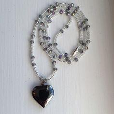 "24"" Heart Shape Hematite Gemstone Necklace NWOT 24"" Heart Shape Hematite Gemstone Necklace NWOT Hematite Jewelry Necklaces"