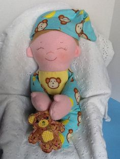 Cloth Rag Doll PDF Pattern Baby Brother Easy by PeekabooPorch