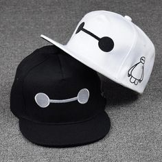 Accessories Big Hero 6 Baymax Adjustable Hip-Hop Snapback Hat Boy Fashion