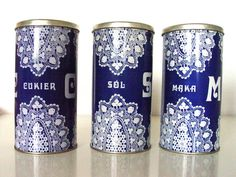 Kitchen Canisters.Set of 3  Early 1970's by AMUARA on Etsy