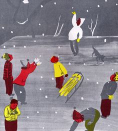 White Snow Bright Snow - written by Alvin Tresselt, illustrated by Roger Duvoisin (1947)