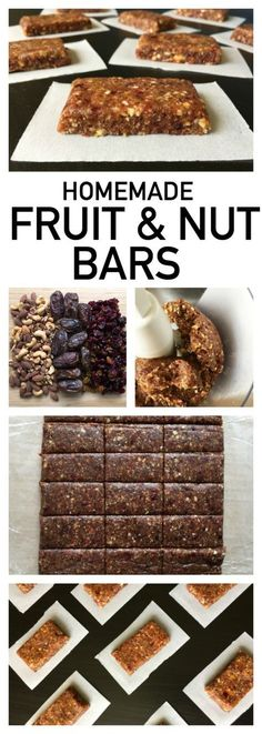 These homemade fruit and nut bars are WAY better than store-bought granola bars! Plus, all you need is three ingredients and a food processor.