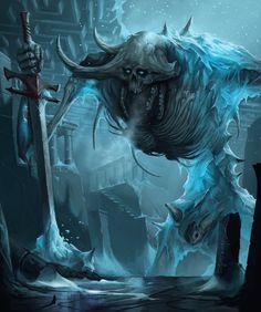 Sithhud, the Frozen Lord - Pathfinder demon, David Franco on ArtStation at https://www.artstation.com/artwork/bblok?utm_campaign=digest&utm_medium=email&utm_source=email_digest_mailer