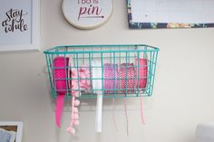 Easily access ribbons. Get 11 more sewing hacks on Sweetredpoppy.com