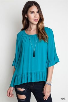 Every Night Top - Teal from Chocolate Shoe Boutique